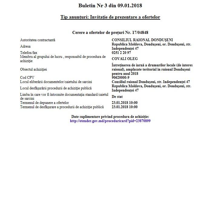 BAP COP nr. 1704848 din 23 ianuarie 2018