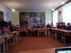 """La 14 decembrie curent, în incinta Liceului Teoretic """"A.Mateevici"""" a avut loc ședința de lucru cu managerii instituțiilor de învățământ din raion."""