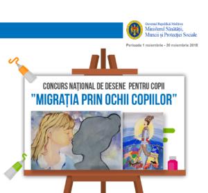 """A fost lansată a III-a ediție a Concursului naţional de desene pentru copii """"Migrația prin ochii copiilor"""""""