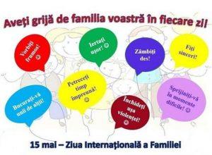 15 mai – Ziua Internațională a Familiei