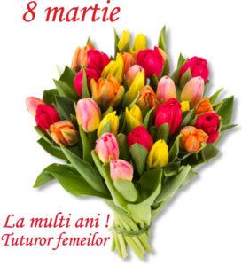 Mesaj de felicitare cu ocazia Zilei Internaţionale a Femeii – 8 Martie!