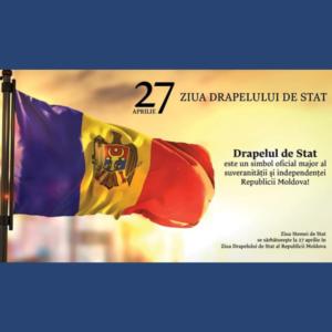 Mesaj de felicitare cu ocazia Zilei Drapelului și a Stemei de Stat