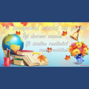 Mesaj de felicitare cu ocazia noului an de studii 2021-2022