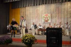 """Orchestra de muzica populară """" Alboteanca"""" la aniversarea celor 40 ani de activitate."""