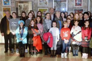 Expoziție metodică de pictură a elevilor profesorului A. Clapatiuc