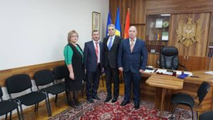 Dnul Petrișor Ionel Dumitrescu Consul General al României la Bălți, cu o vizită în teritoriu or.Dondușeni