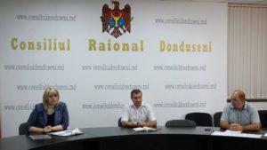 Astăzi, 13.07.2020, în incinta Consiliului Raional Dondușeni, a avut loc întâlnirea cu conducerea raionului.